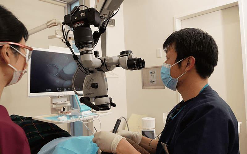 深い虫歯治療、歯冠修復